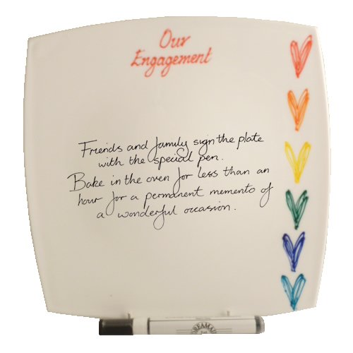 Engagement Hearts Sq Gift Signature Plate (Brights) наклейка sweet hearts поцелуй 53434