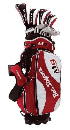 Ben Sayers M9 G4942 Men's  Package Set - Stand Bag, Steel/ Graphite, Black/Red/White Right Hand Regular