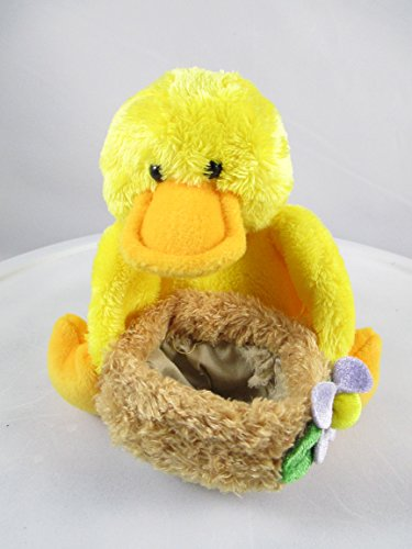 "Gund Chick Basketeer Stuffed Plush Toy Bird Yellow & Orange Duck 5"" Tall - 1"