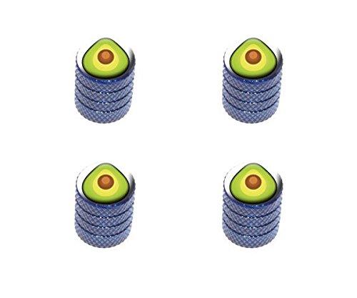 graphics-and-more-avocado-tire-rim-wheel-aluminum-valve-stem-caps-blue-color