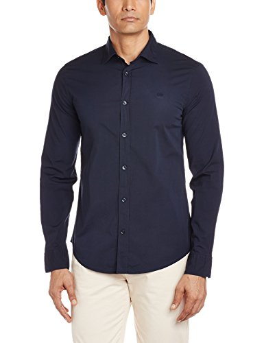 GAS Men's Casual Shirt (8059890991976_85036194_Small_Navy Blue)  available at amazon for Rs.1995