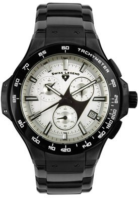 Swiss Legend Men's 40050-BB-02 Maverick Chronograph Black Ion-Plated Watch