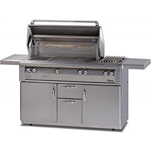Alfresco Lx2 56-inch Natural Gas Grill On Cart With Sear Zone, Rotisserie, And Side Burner