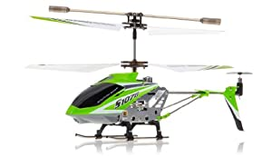 Syma 3 Channel S107/S107G Mini Indoor Co-Axial R/C Helicopter w/ Gyro (Green Color)