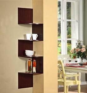 Amazon.com - 4D Concepts Hanging Corner Storage, Cherry