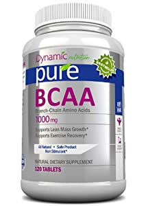 BCAA Amino Acids - Aids in Weight Loss, Building Lean Muscle Mass, and Muscle Recovery, Contains L-Leucine, L-Isoleucine, and L-Valine, 1000mg, 120 Tablets. Works Excellant with Pure White Kidney Bean Extract. Manufactured in a USA Based GMP Organic Certi