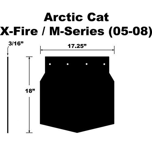 Proven Design SF-058MSPB Snowmobile Mud Flap Arctic Cat M-Series/X-Fire 2005-2008 Plain Black Snow Flap (Plain Mud Flaps compare prices)
