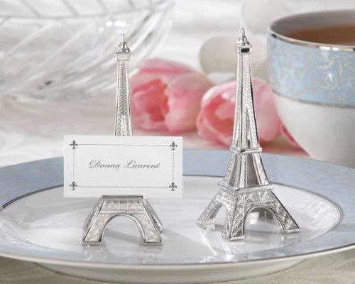 Evening in Paris Eiffel Tower Silver-Finish Place Card/Holder (set of 8)