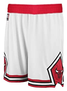 NBA adidas Chicago Bulls White Swingman Shorts (Large)