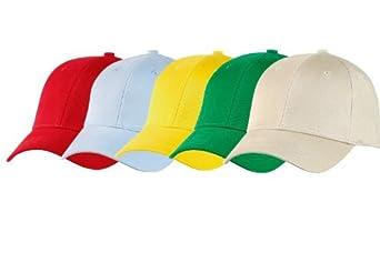 Lot de 5 casquettes Prestige Adulte taille S couleurs claires (Lot n°3)