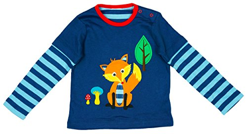 Boys Baby Toddler Fox Motif Long Sleeve T-Shirt Top sizes from Newborn to 24 Months