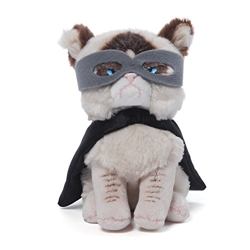 Gund Grumpy Cat Superhero Beanbag Stuffed Animal Plush