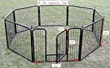 40&quot; Heavy Duty Pet Playpen Dog Exercise Pen Cat Fence B