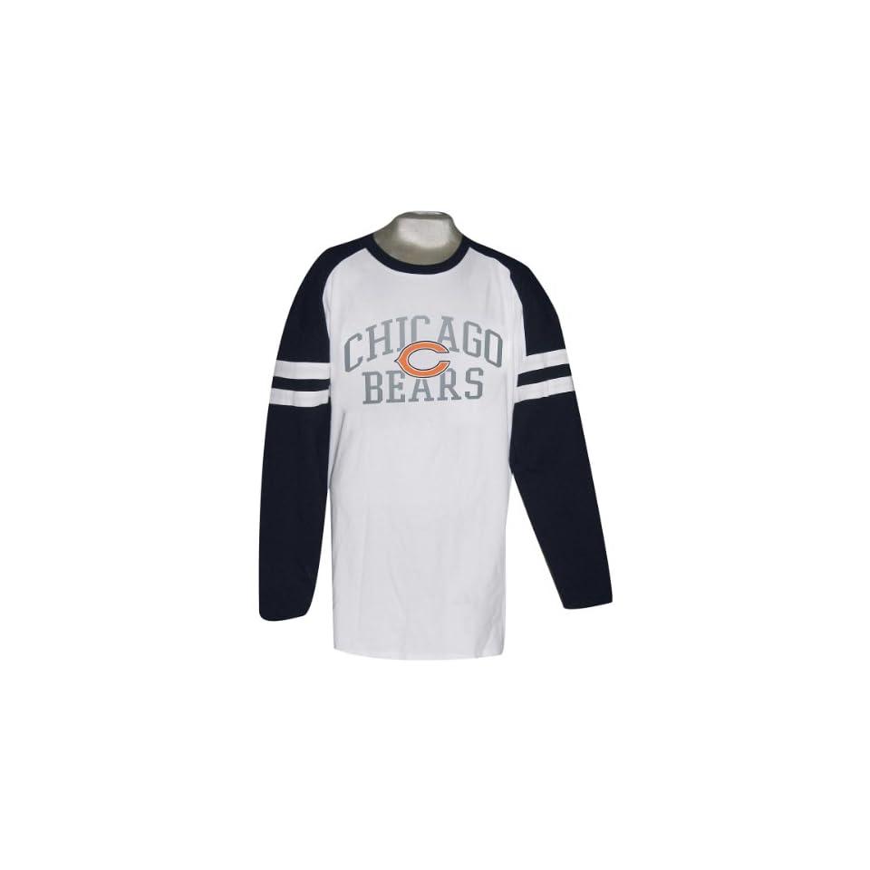 Nfl Chicago Bears Big & Tall Mens Long Sleeve Stripe T Shirt