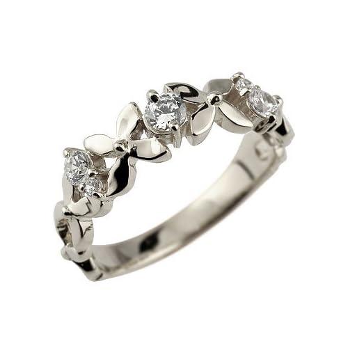 [アトラス] Atrus 指輪 リング ピンキーリング 花 フラワー プラチナ900 Pt900 指輪 7号 フラワーモチーフリングにキラリと輝きを放つダイヤモンドが華やかなリング ファッションリング