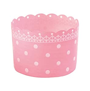 Welcome Home Brands Colorful Plastic Free Standing Baking Cups,s Pink, 2.3 -Inch Diameter by 1.8 -Inch Height, One Case of 500 Units by Welcome Home Brands