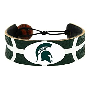 NCAA Michigan State Spartans Team Color Basketball Bracelet
