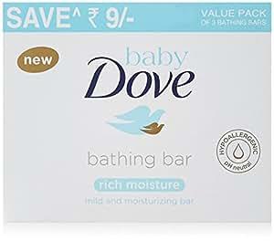 Dove Rich Moisture Cream Beauty Bathing Bar, 75g (Pack of 3)
