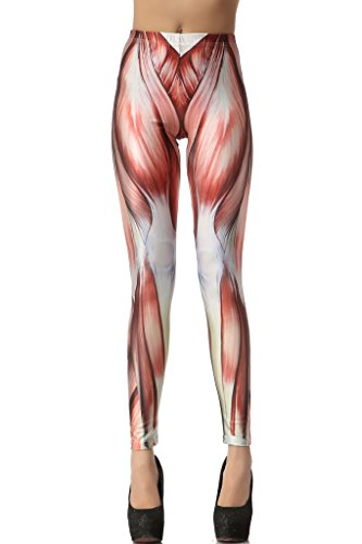 [Black Friday Sale]Roko Fashion Muscle Print Leggings Pants,M Size