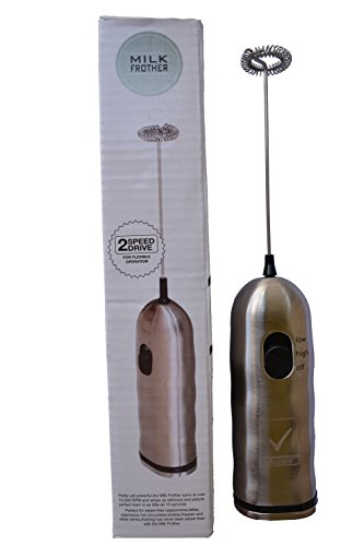 Handheld Electric Milk Frother ★ Creates Creamy Milk Foam in Seconds ★ Make the Best Cappuccino ★ Perfect for Whipping and Mixing Milk ★ Great for Feeding Bottles, Cocktails, Shakes, Eggs & More!