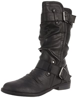 Report Hilaria Womens Size 5 Black Faux Leather Casual Boots