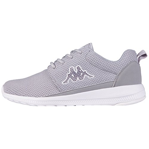 KappaSPEED II Footwear unisex, Mesh/Synthetic - Scarpe da Ginnastica Basse Unisex - Adulto , Grigio (Grau (1410 l'grey/white)), 39