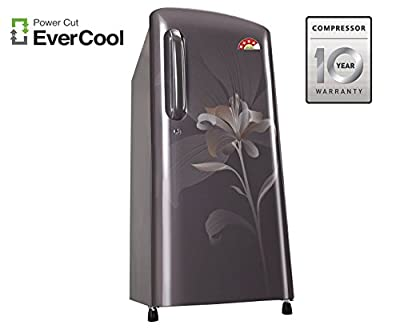 LG GL-B221AGLS.DGLZEBN Direct-cool Single-door Refrigerator (215 Ltrs, 4 Star Rating, Graphite Lily)