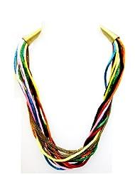 Eden Overseas Silkthread Metal Chain Necklace For Women