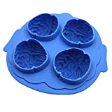 BIUBIU Brain Shape Ice Freeze Cube Tray Maker Mould, Blue