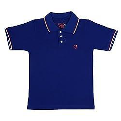 Circle Square Boy's Polo T-Shirt Blue