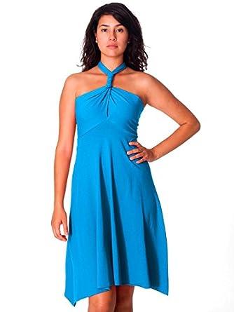 American Apparel Cotton Spandex Jersey Bandeau Dress - Teal / XS