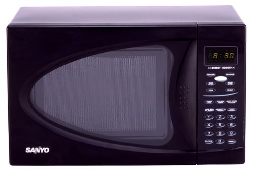 Sanyo EM-U1000B .7-Cubic-Foot Compact Microwave Oven, Black