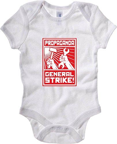 T-Shirtshock - Body neonato TCO0001 general strike comunismo, Taglia 18-24mesi