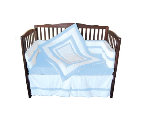 Baby Doll Modern Hotel Style Crib Bedding Set, Blue