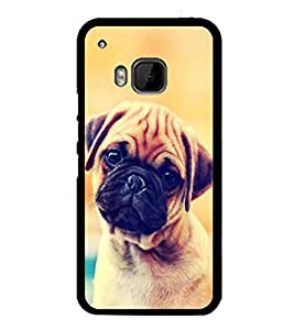 printtech Cute Pug Puppy Luck Back Case Cover for HTC One M9::HTC M9