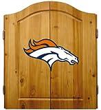 NFL Denver Broncos Complete Dart Cabinet (w/board, darts, & flights)