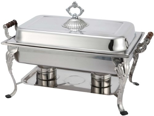 Winco 408-1 Full Rectangular Crown Chafer, 8-Quart
