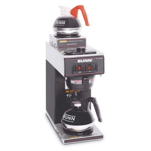 BUNN Black Pourover Coffee Maker w/ 2 Warmers