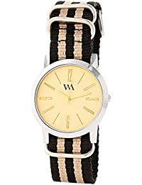 WATCH ME Gold Nylon Gold Dial Watch For Men Gold Nylon Gold Dial Watch For Men Watch MeAL-187