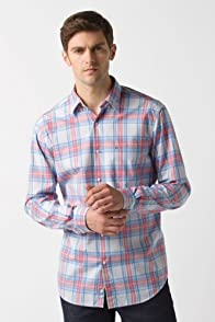 Glc Long Sleeve Plaid Button Down Woven Shirt