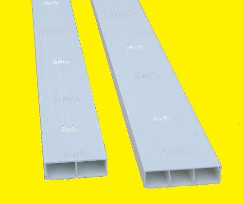 pvc abdeckleiste hohlkammerprofil 200cm 45x15mm wei kunststoff profil kunststoffleiste. Black Bedroom Furniture Sets. Home Design Ideas