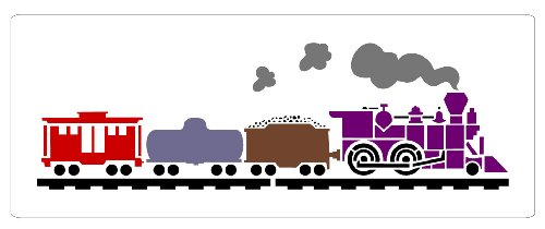 Faux Like a Pro Train Stencil, 7.5 by 20-Inch