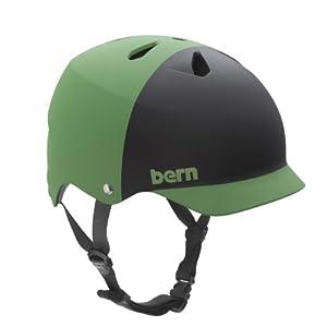 BERN Watts EPS 2-Tone Summer Matte Helmet (Neon Green/Black, Medium)