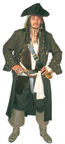 Men's Authentic Style Pirate Halloween Costume