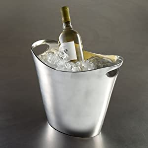Elegant Aluminum Oval Wine Ice Bucket