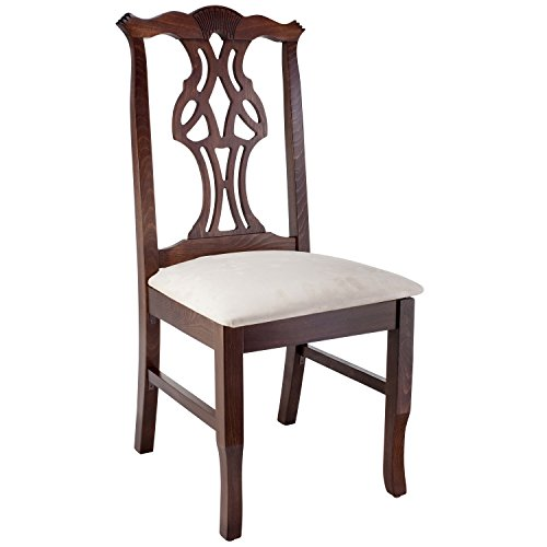 Beechwood Mountain Fully Assembled Chippendale Side Dining Chair in Walnut Finish (Chippendale Side Chair compare prices)