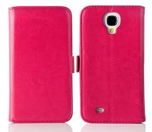 JAMMYLIZARD | Luxuriös Wallet Ledertasche Hülle für Samsung Galaxy S4, KNALLROSA