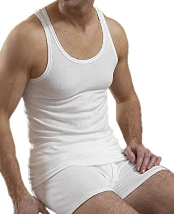 3 Lots de sous-vêtements pour hommes, T-shirt blancs 100% coton, Small