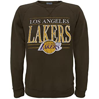Los Angeles Lakers - Mens Distressed Classic Logo Sweatshirt by Old Glory