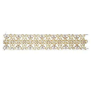 Diamond 18k Three Tone Gold Bracelet